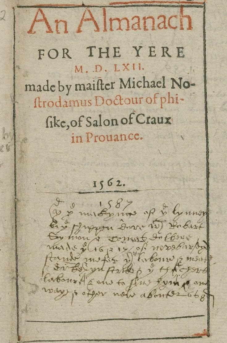 An Almanach for the yere 1562, Henry Sutton